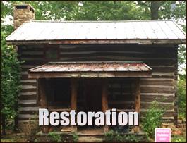 Log Cabin Restoration  Chesterfield County,  South Carolina